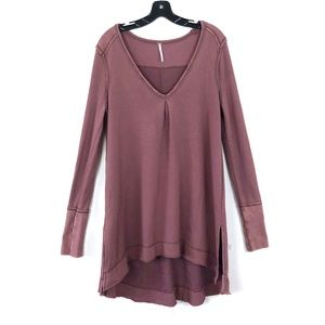 [Free People] Maroon High Low Sweater Dress
